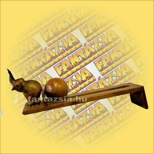 CD Tartó Trópusi Fából golyós elefántos