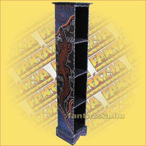 CD Tartó Trópusi Fából Aboriginal Festéssel B