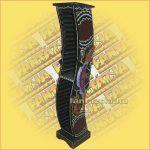 CD Tartó Trópusi Fából Aboriginal Festéssel íves gekkós