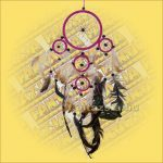 Álomfogó (Álomőrző,Álomcsapda) rózsaszín 12cm