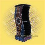 CD Tartó Trópusi Fából Aboriginal Festéssel íves kicsi