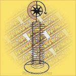 CD Tartó Fémszálból - csillag