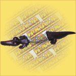 CD Tartó Fémszálból - krokodilos