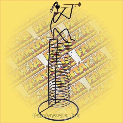 CD Tartó Fémszálból - trombitás