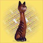CD Tartó Trópusi Fából macska B