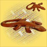 Gekkó Figura Sono fából Nagy