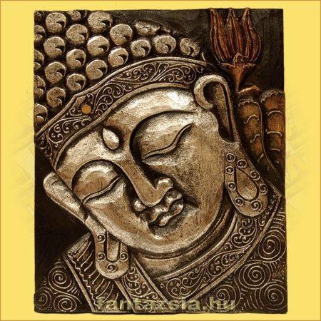 Buddha Falikép Ezüst Színű