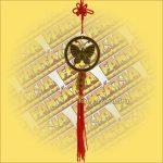 Feng Shui Szerencsehozó Függő Pillangó szimbólummal