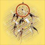 Álomfogó (Álomőrző,Álomcsapda) narancssárga 11cm