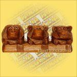 Három Majom Trópusi Fából  /Nem lát,Nem hall,Nem beszél/
