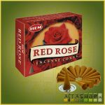 Kúpfüstölő Vörös Rózsa / HEM Red Rose Füstölő Kúp