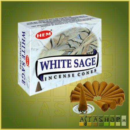 Kúpfüstölő Fehér Zsálya / HEM White Sage Füstölő Kúp