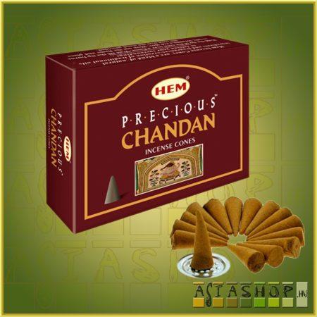 Kúpfüstölő Indiai Szantál / HEM Precious Chandan Füstölő Kúp