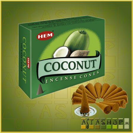 Kúpfüstölő Kókusz / HEM Coconut Füstölő Kúp