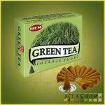 Kúpfüstölő Zöld Tea / HEM Green Tea Füstölő Kúp