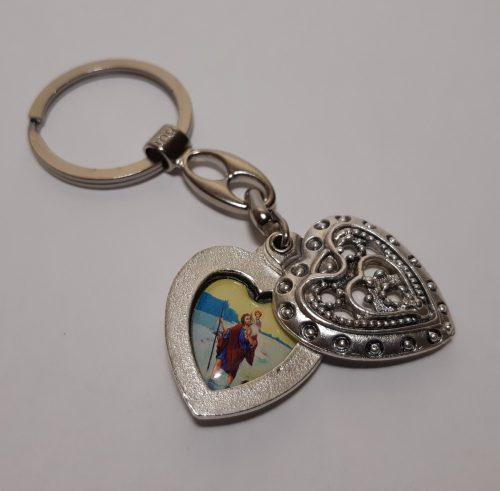 Szív kulcstartó-Szent Képes