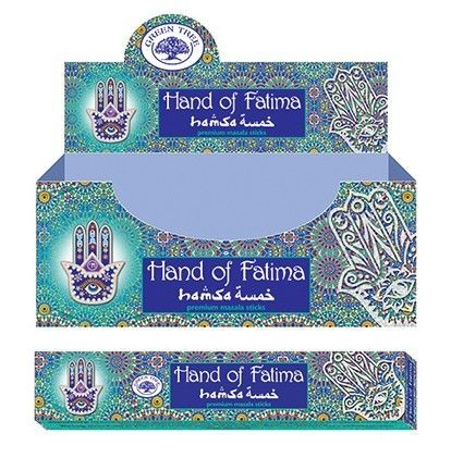 Green Tree-Hand Of Fatima-Fatima Keze Masala Füstölő
