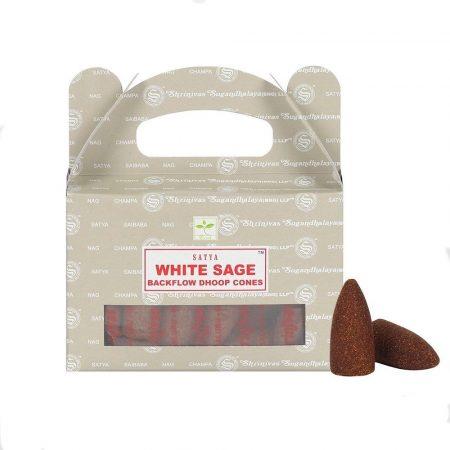 Satya Backflow-White Sage-Fehér Zsálya-Kúpfüstölő (folyékony füst)