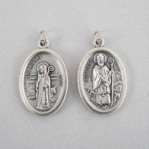 Szent Patrik és Szent Brigitta Ezüstözött Érme