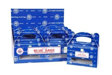 Satya Backflow-Blue Sage-Kék Zsálya-Kúpfüstölő (folyékony füst)