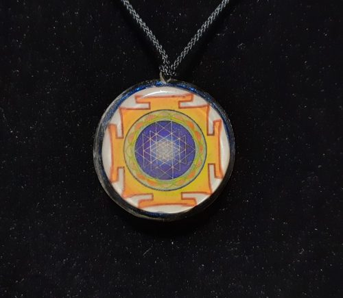 Sri Yantra-Orgonit  medál