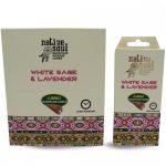 Green Tree-Native Jumbo-White Sage & Lavender-Fehér Zsálya és Levendula Back Flow lefelé áramló kúp (folyékony füst)