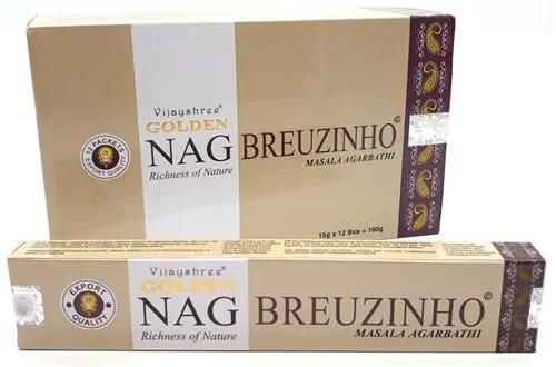 Golden Nag Breuzinho-Benzoin Masala Füstölő