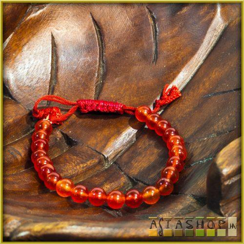ásvány karkötő - vörös karneol