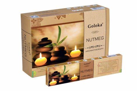 Goloka Aromatherapy Nutmeg-Szerencsendió masala füstölő