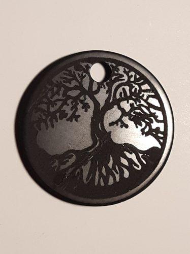 Shungit-Sungit medál-életfa gravírozással