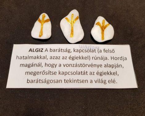 ALGIZ-Rúna talizmán-görög márvány