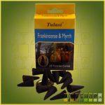 Kúpfüstölő Tömjén és Mirha / Tulasi Frankincense & Mirrh Füstölő Kúp