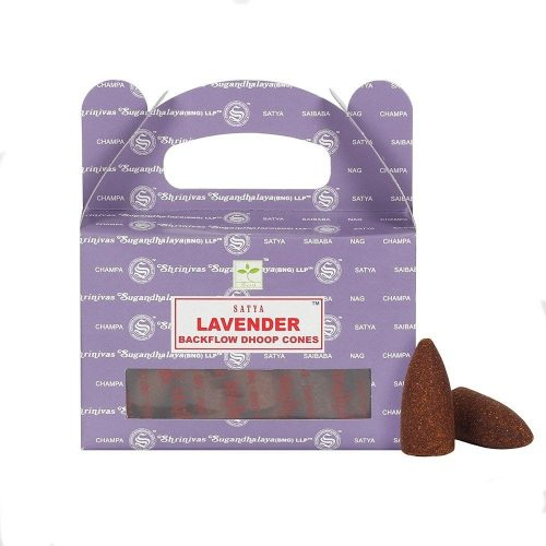 Satya Backflow-Lavender-Levendula-Kúpfüstölő (folyékony füst)