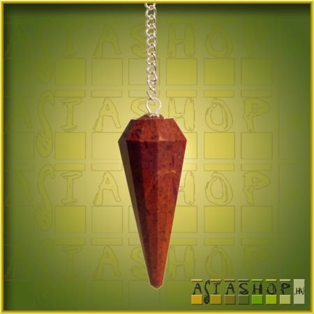 ásvány inga - vörös jáspis- 12 szögletű fazettás csiszolású