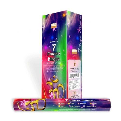 Darshan kollekció-7 Powers Hindu indiai füstölő