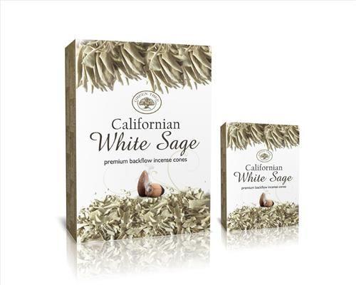 Green Tree-Californian White Sage-Kaliforniai Fehér Zsálya Back Flow-lefelé áramlós kúp füstölő (folyékony füst)