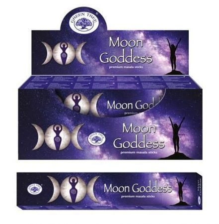 Green Tree-Moon Goddess-Hold Istennő Masala Füstölő