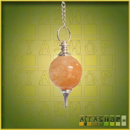 ásvány inga - arany kvarc- gömb csiszolású