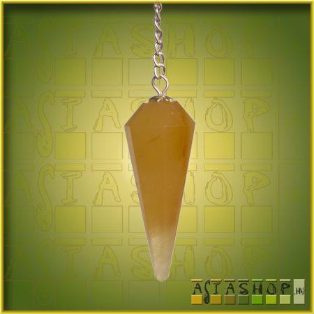 ásvány inga - aranykvarc - 12 szögletű fazettás csiszolású
