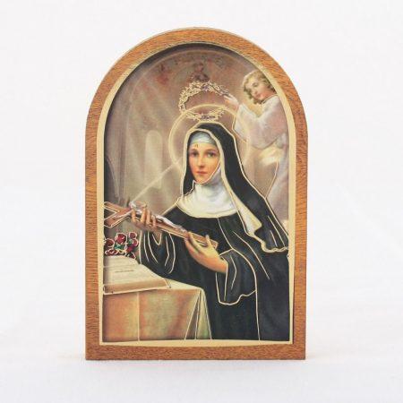 Szent Rita Faplakett