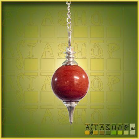 ásvány inga - vörös jáspis - gömb csiszolású