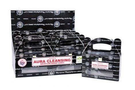 Satya Backflow-Aura Cleansing-Kúpfüstölő (folyékony füst)