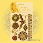 Fényes Fémtetoválás (Aranytetoválás) Egyiptomi mandala szimbólummal