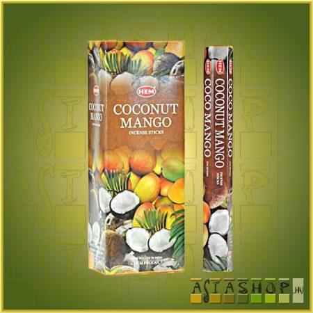 HEM Coconut Mango/HEM Kókusz Mangó illatú indiai füstölő