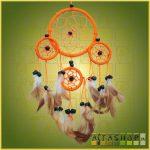 Álomcsapda (álomfogó) narancssárga 9cm, 1nagy+3kicsi