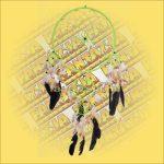 Álomcsapda (álomfogó) világoszöld 32cm