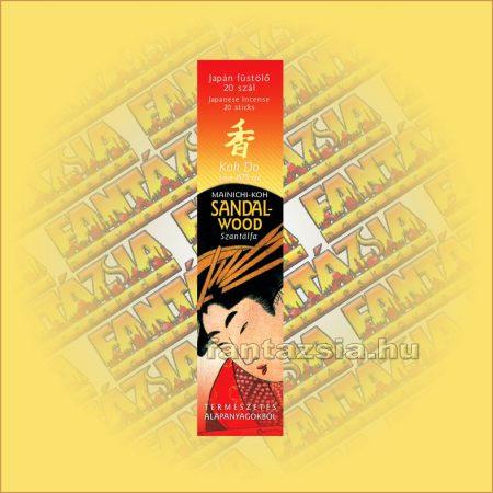Szantálfa (Sandalwood) illatú Japán füstölő/Nippon Kodo-Koh Do Japán füstölő
