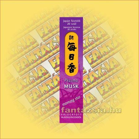 Pézsma (Musk) illatú Japán füstölő/Nippon Kodo-Morning Star Japán füstölő