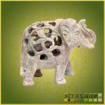 Áttört Elefánt Zsírkőből Nagy