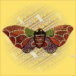 Hűtőmágnes-Trópusi Lepke/Aboriginal Festéssel